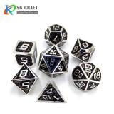 black glitter Enamel Metal Dice Set
