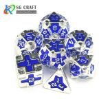 IRON MAN  METAL SILVER DICE SET