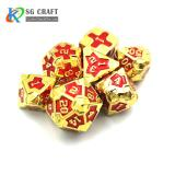 IRON MAN  METAL GOLD DICE SET