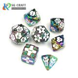 IRON MAN  RAINBOW METAL DICE SET